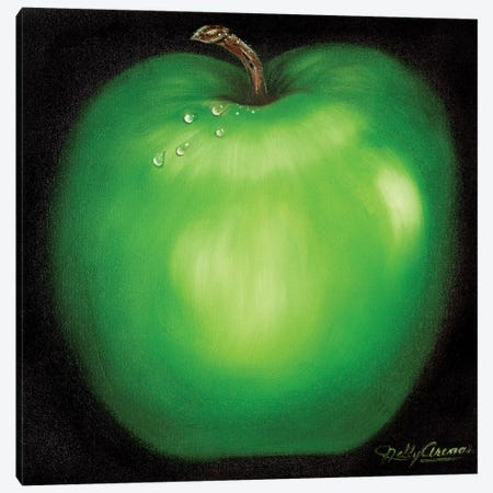 Green Apple Canvas Print #NLY1} by Nelly Arenas Canvas Artwork