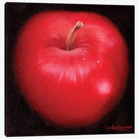 Red Apple Canvas Print #NLY5} by Nelly Arenas Art Print