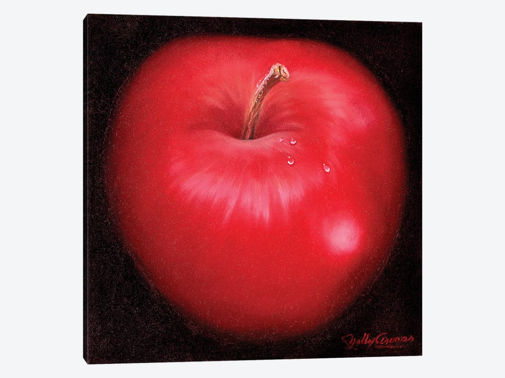 Red Apple by Nelly Arenas 1-piece Canvas Art