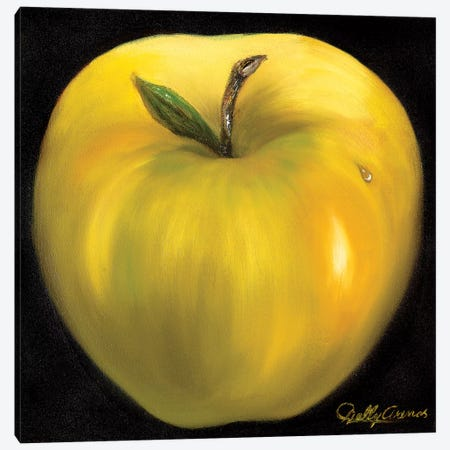 Yellow Apple Canvas Print #NLY6} by Nelly Arenas Canvas Print