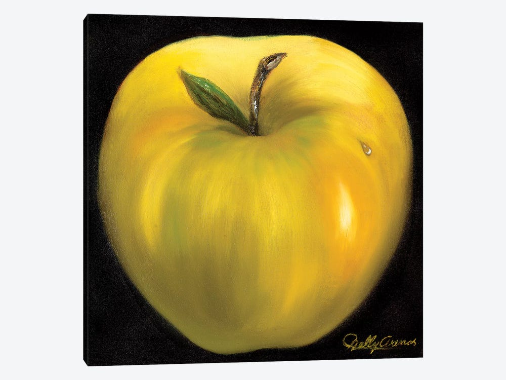Yellow Apple by Nelly Arenas 1-piece Canvas Art Print