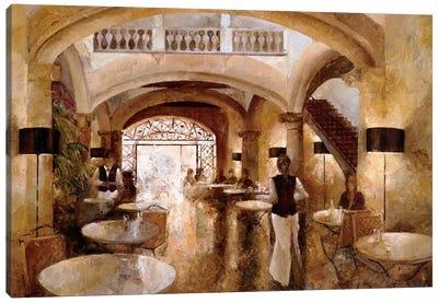 Patio Cappuccino Canvas Art Print