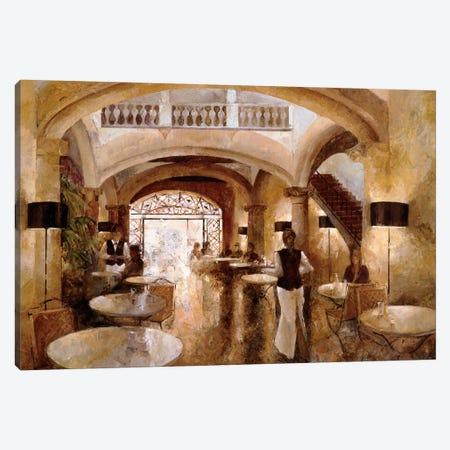 Patio Cappuccino Canvas Print #NMA4} by Noemi Martin Canvas Art Print