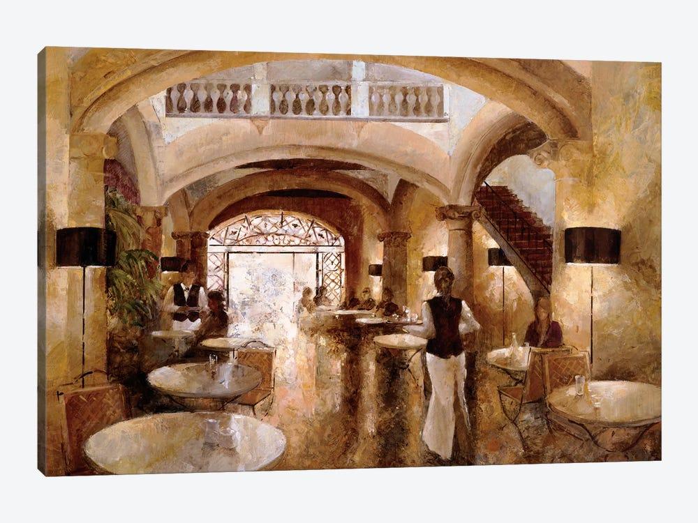 Patio Cappuccino by Noemi Martin 1-piece Canvas Artwork