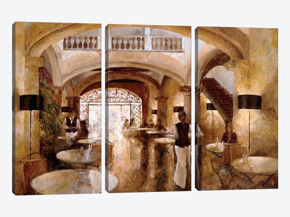 Patio Cappuccino by Noemi Martin 3-piece Canvas Art