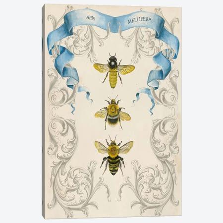 Bees & Filigree II 3-Piece Canvas #NMC10} by Naomi McCavitt Canvas Print