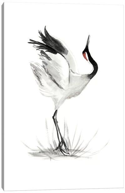 Japanese Cranes I Canvas Art Print