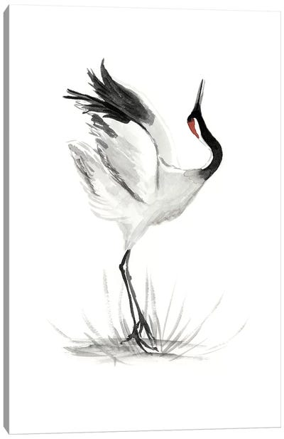 Japanese Cranes I Canvas Art Print
