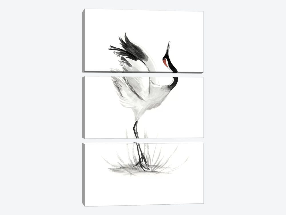 Japanese Cranes I by Naomi McCavitt 3-piece Canvas Artwork