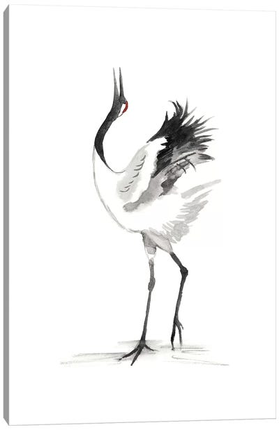 Japanese Cranes IV Canvas Art Print
