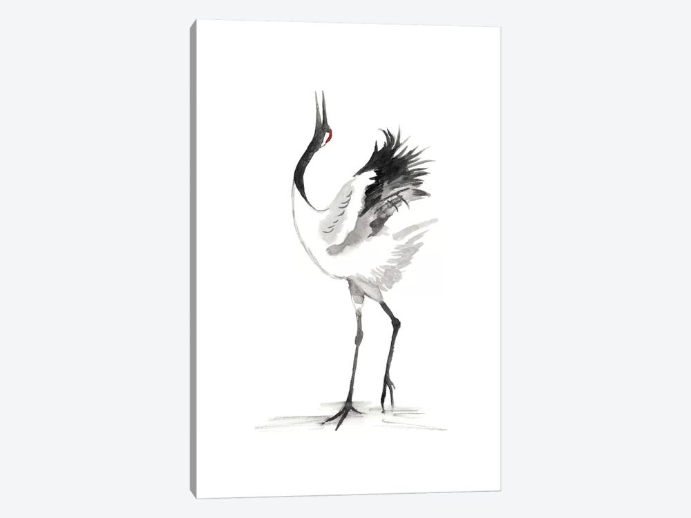 Japanese Cranes IV by Naomi McCavitt 1-piece Canvas Print