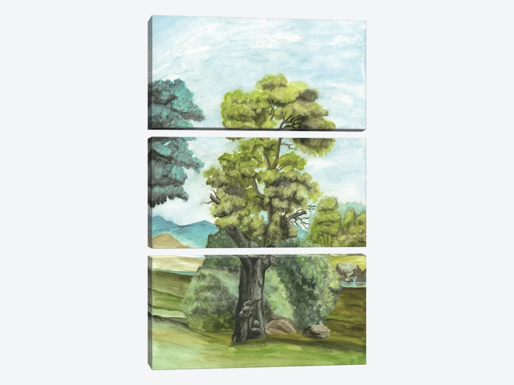 Scenic French Wallpaper II 3-piece Canvas Art