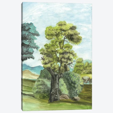 Scenic French Wallpaper II Canvas Print #NMC121} by Naomi McCavitt Art Print