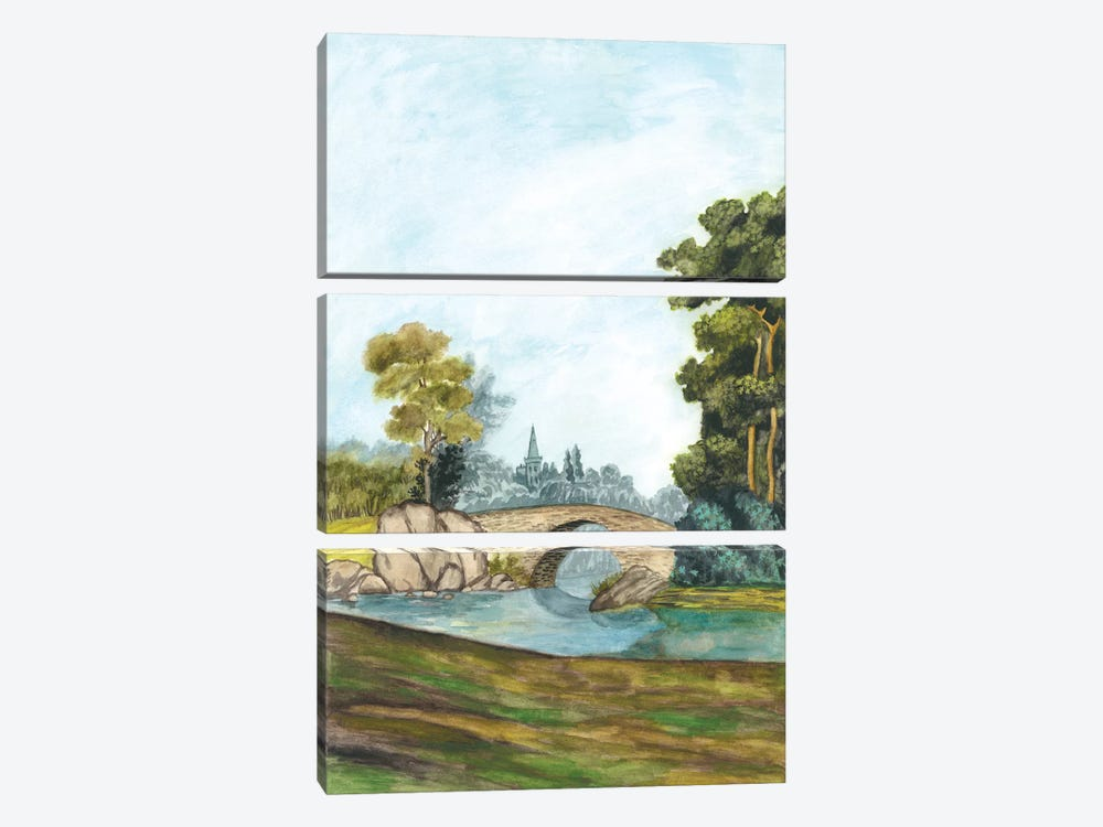 Scenic French Wallpaper III 3-piece Art Print