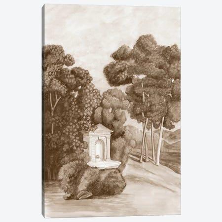 Sepia French Wall Paper I Canvas Print #NMC125} by Naomi McCavitt Canvas Artwork