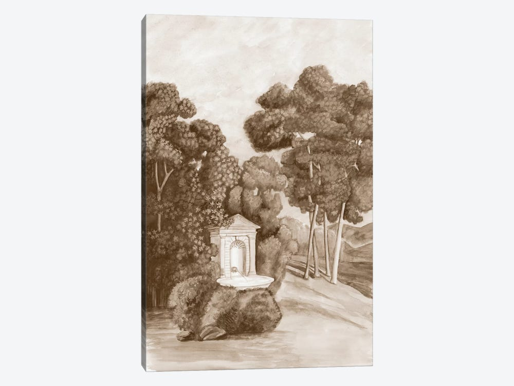 Sepia French Wall Paper I by Naomi McCavitt 1-piece Canvas Art