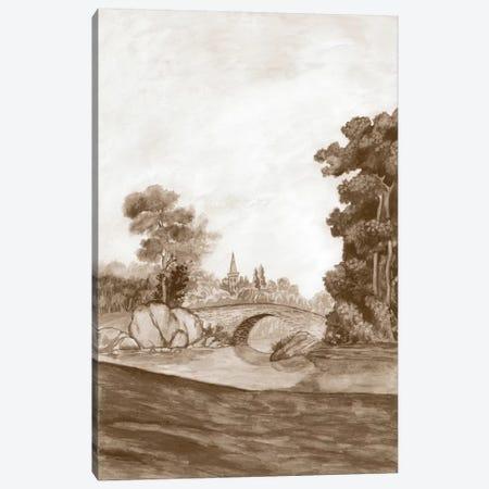 Sepia French Wall Paper III Canvas Print #NMC127} by Naomi McCavitt Canvas Art