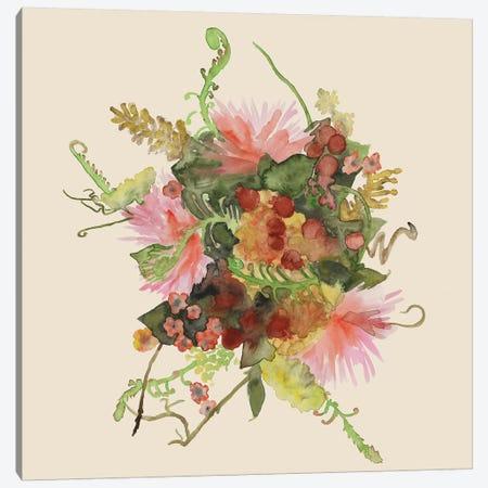 Watercolor Floral Spray II Canvas Print #NMC129} by Naomi McCavitt Canvas Print