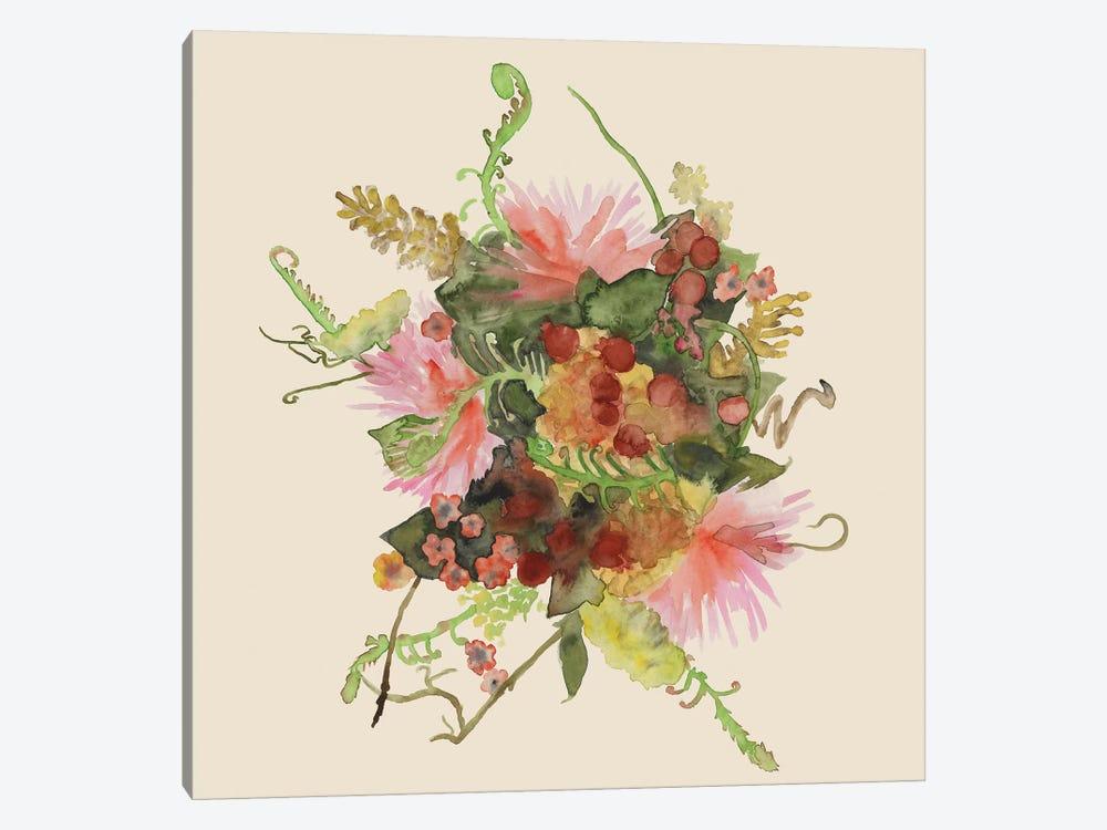 Watercolor Floral Spray II by Naomi McCavitt 1-piece Canvas Artwork