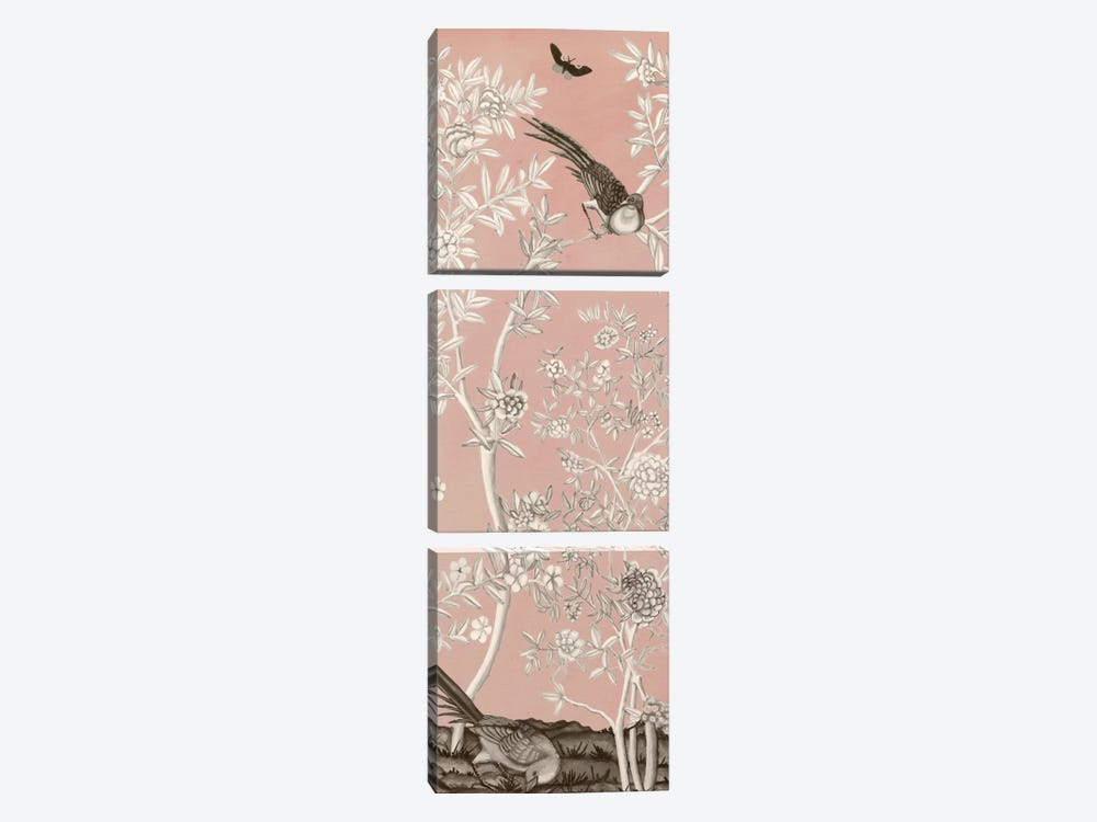 Blush Chinoiserie II by Naomi McCavitt 3-piece Canvas Print