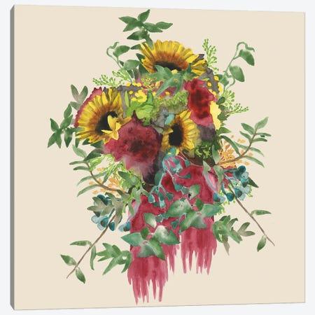 Watercolor Floral Spray IV Canvas Print #NMC131} by Naomi McCavitt Canvas Wall Art