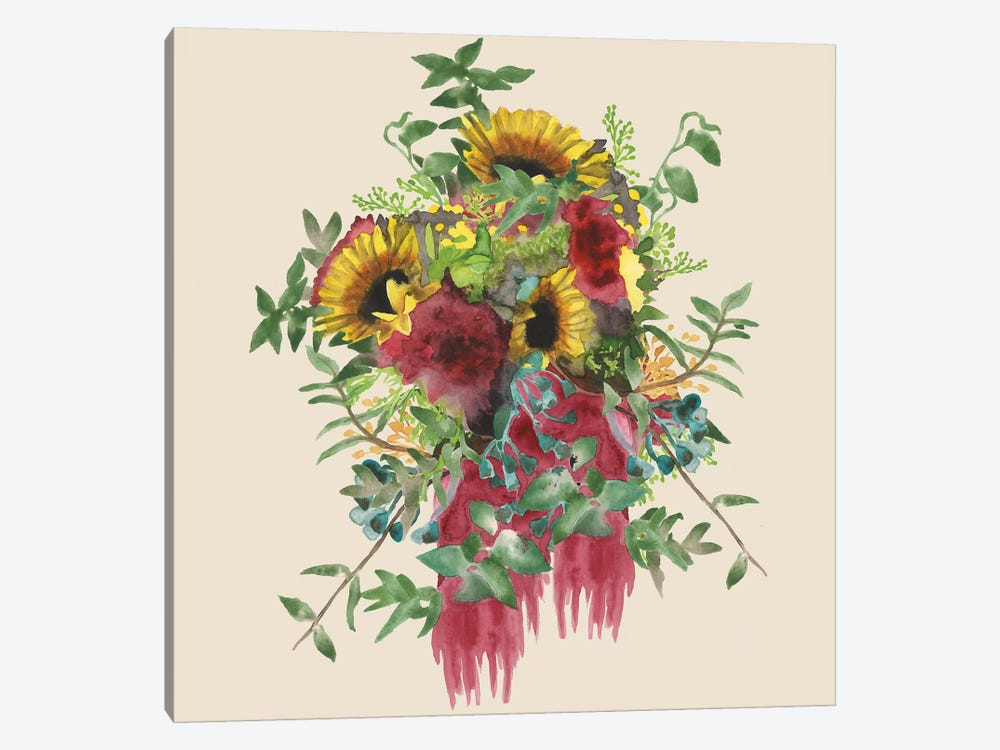 Watercolor Floral Spray IV by Naomi McCavitt 1-piece Canvas Art Print
