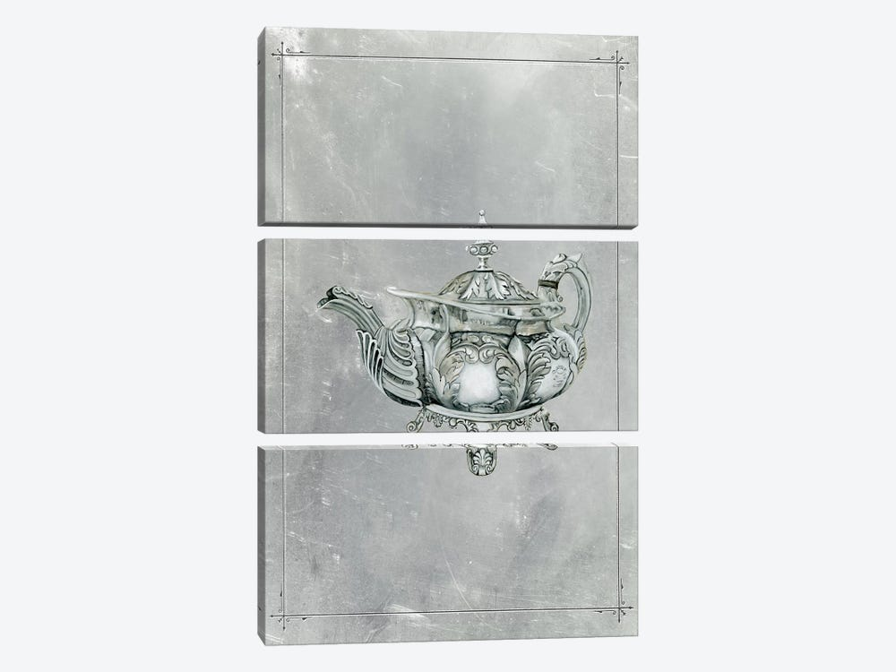 English Silver IV by Naomi McCavitt 3-piece Canvas Print