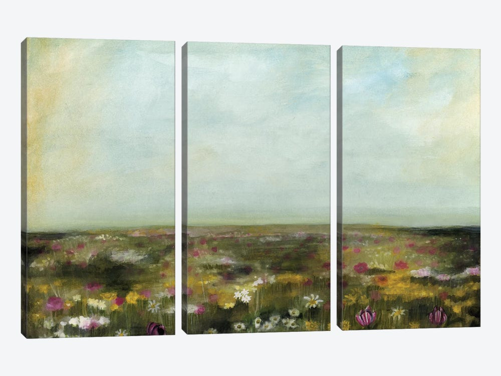Floral Fields II by Naomi McCavitt 3-piece Art Print
