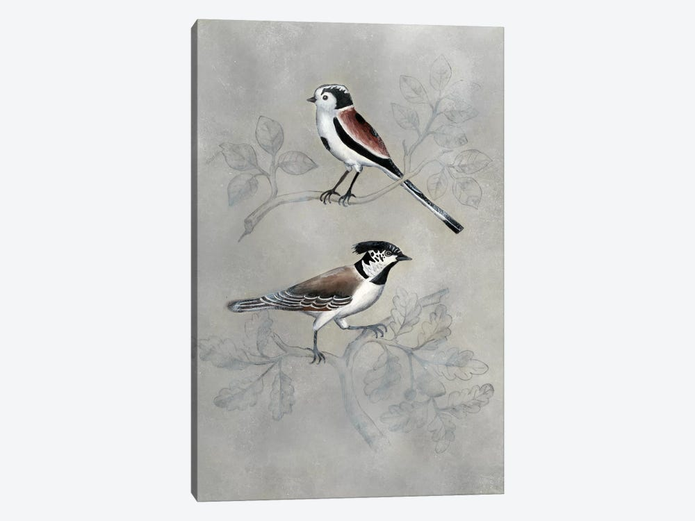 Silvered Aviary IV 1-piece Canvas Art