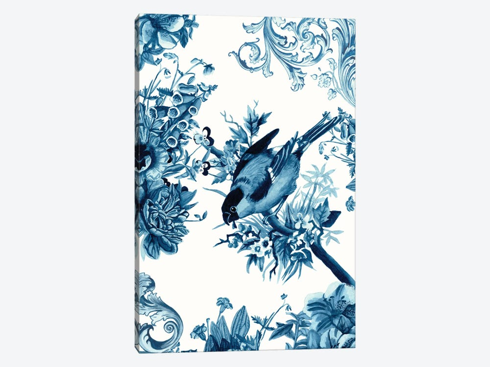 Bird & Branch In Indigo I by Naomi McCavitt 1-piece Canvas Art
