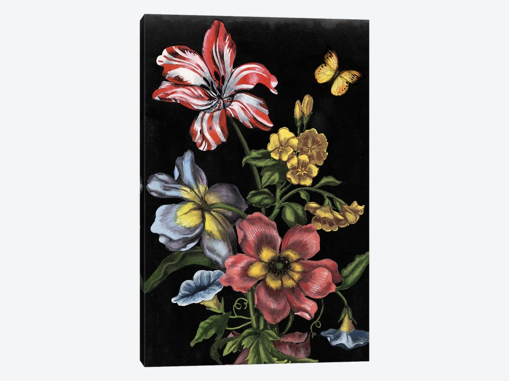 Dark Floral I 1-piece Canvas Print