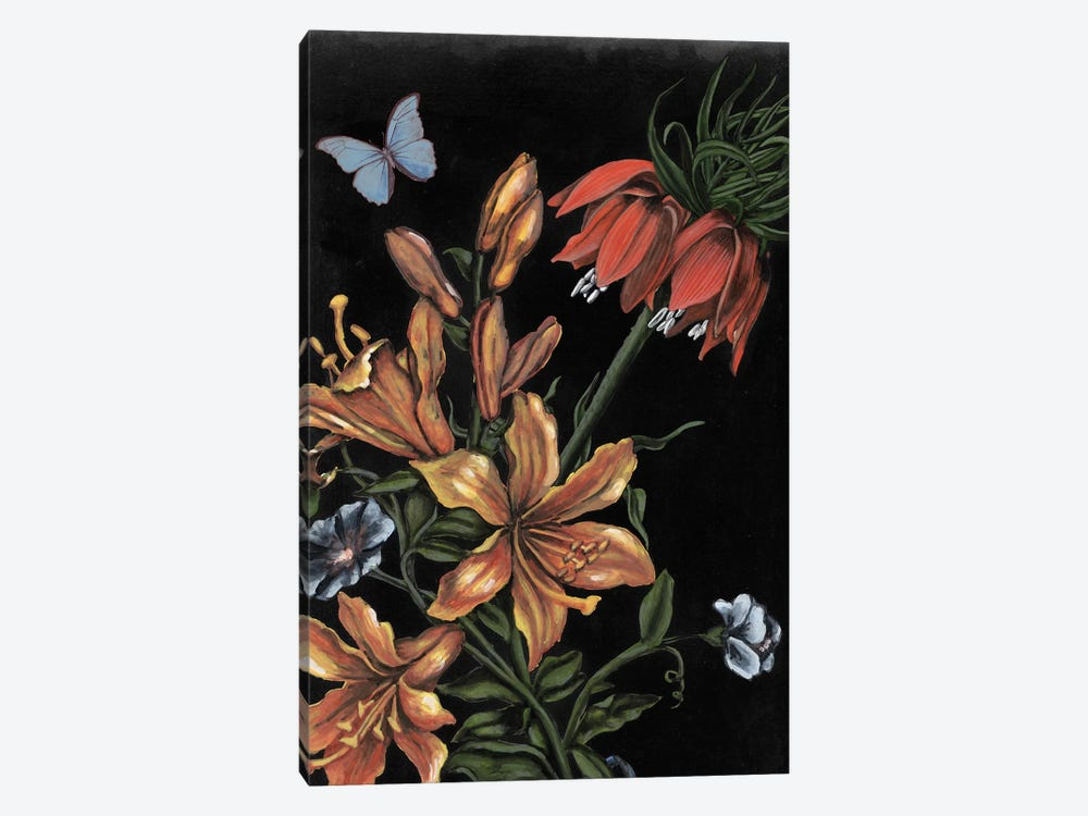 Dark Floral II by Naomi McCavitt 1-piece Canvas Art