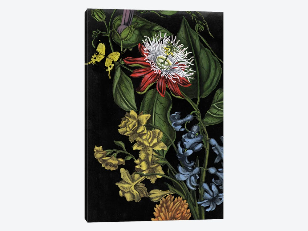 Dark Floral III 1-piece Art Print