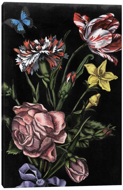 Dark Floral IV Canvas Art Print