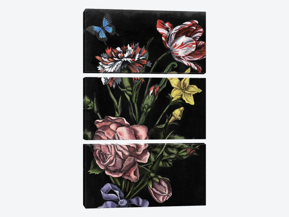 Dark Floral IV by Naomi McCavitt 3-piece Canvas Art
