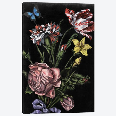 Dark Floral IV 3-Piece Canvas #NMC198} by Naomi McCavitt Canvas Artwork