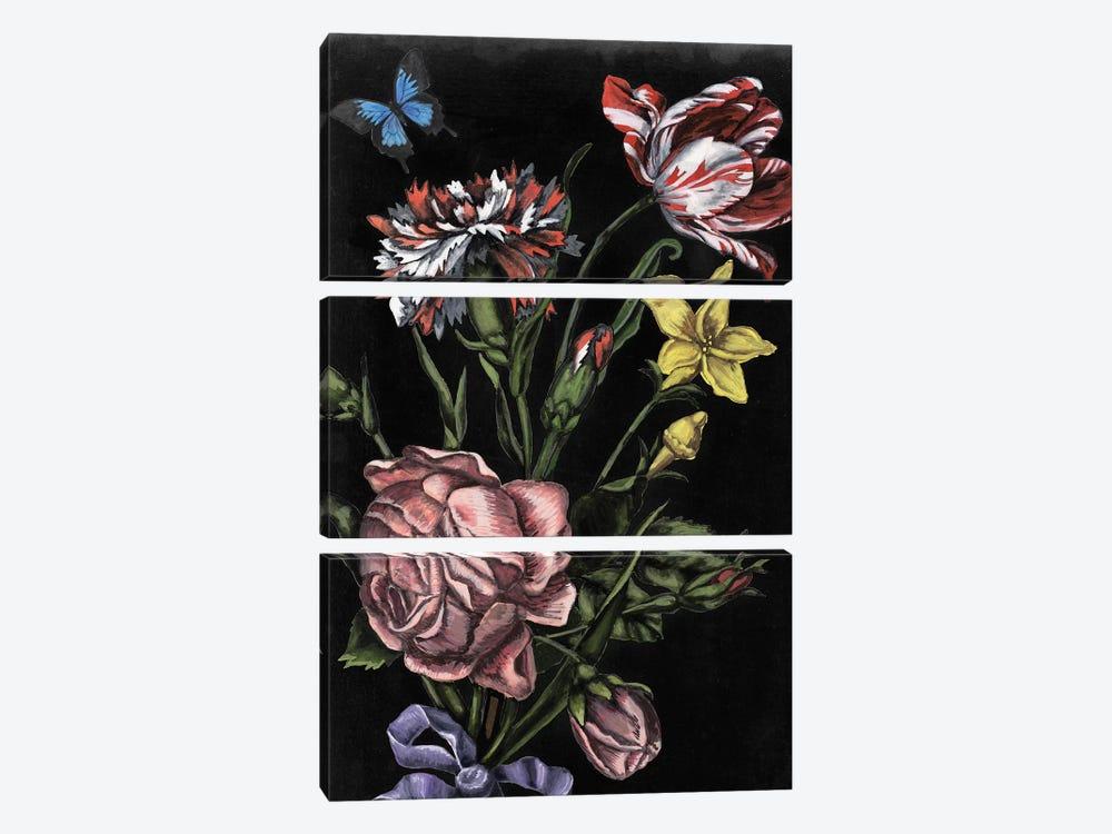Dark Floral IV by Naomi McCavitt 3-piece Canvas Art