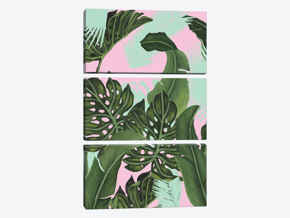 Neon Jungle I by Naomi McCavitt 3-piece Canvas Wall Art