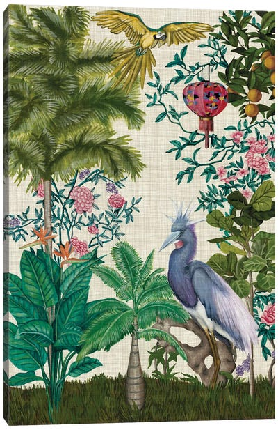 Paradis Chinoiserie I Canvas Art Print