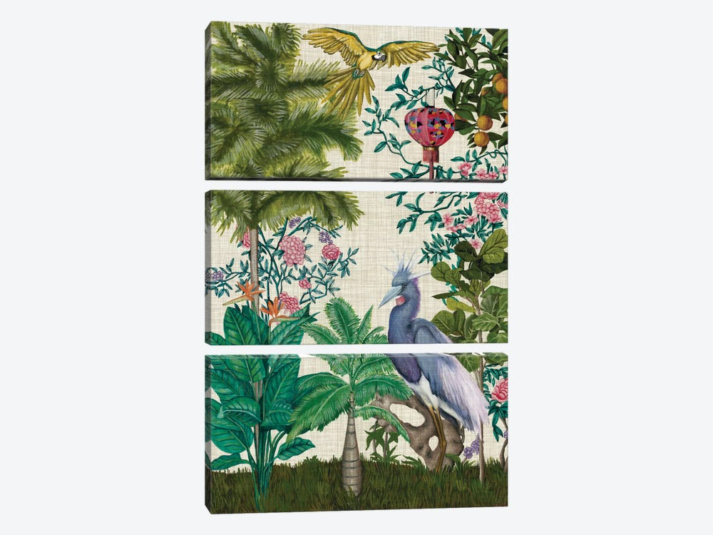 Paradis Chinoiserie I 3-piece Canvas Art