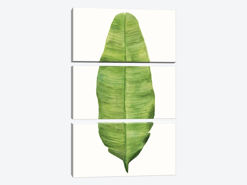 Tropical Breeze Leaves IV 3-piece Canvas Wall Art