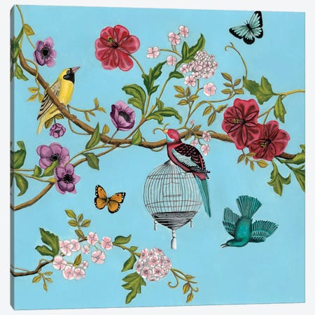 Bird Song Chinoiserie II Canvas Print #NMC214} by Naomi McCavitt Canvas Art