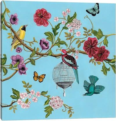 Bird Song Chinoiserie II Canvas Art Print
