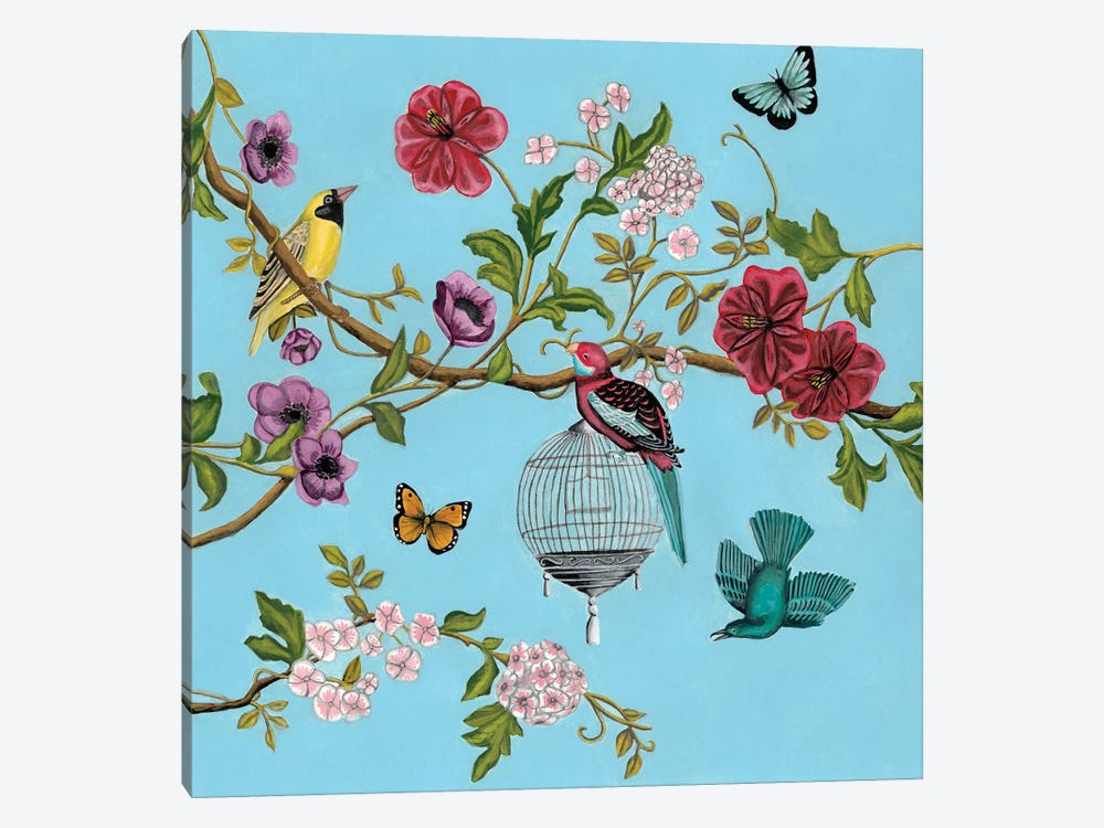 Bird Song Chinoiserie II by Naomi McCavitt 1-piece Canvas Art