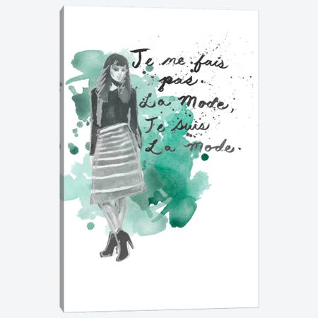 Fashion Quotes I Canvas Print #NMC26} by Naomi McCavitt Art Print