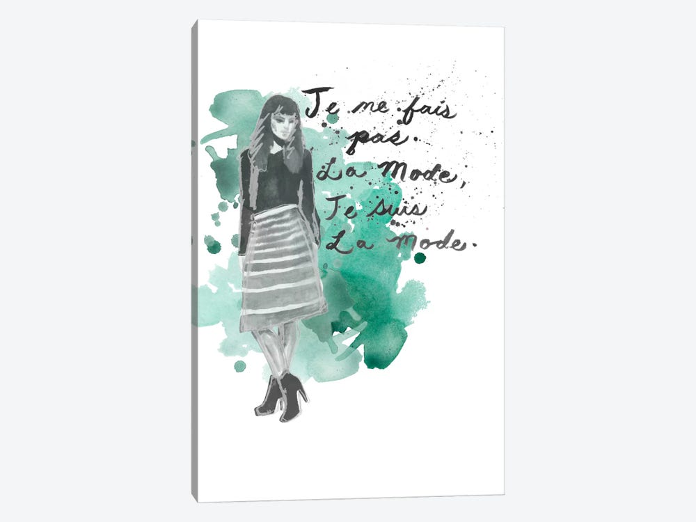 Fashion Quotes I by Naomi McCavitt 1-piece Canvas Artwork