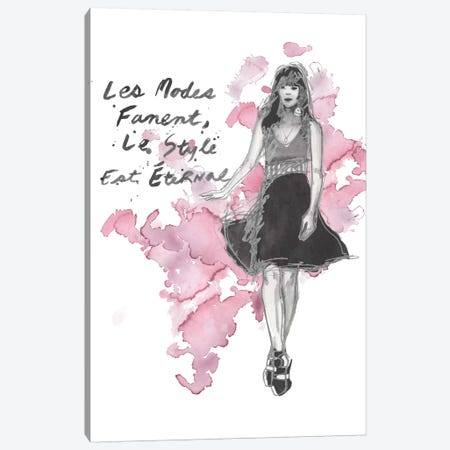 Fashion Quotes II Canvas Print #NMC27} by Naomi McCavitt Canvas Art Print