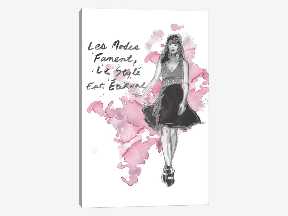 Fashion Quotes II by Naomi McCavitt 1-piece Canvas Art Print