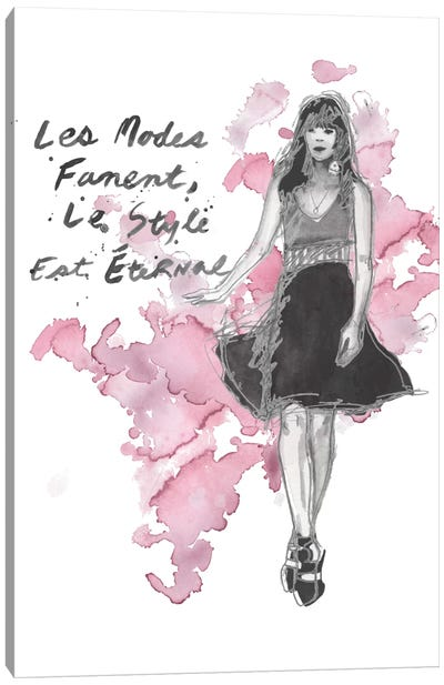 Fashion Quotes II Canvas Art Print