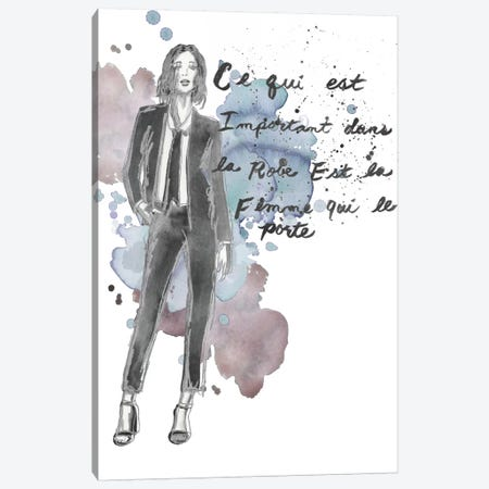Fashion Quotes III Canvas Print #NMC28} by Naomi McCavitt Canvas Art
